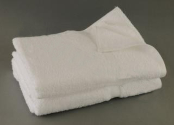 27x54 White Bath Towel Premium Plus 100% Cotton - 15 Lb/Doz