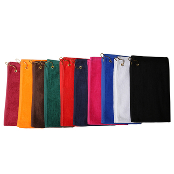 6 Pack - Golf Towels 11x18 w/Corner Grommet and hook