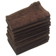 16x26 - Dark Brown Velour Hand Towels 100% Cotton