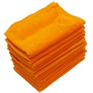16x26 - Orange Terry Velour Hand towel 100% Premium Plus Cotton