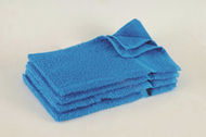 15x25 - Neon Blue Hand Towel Standard Premium 100% Cotton