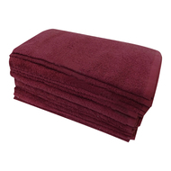 13x13 WINE color Washcloths Bleach Shield 100% Cotton 1.5 Lb